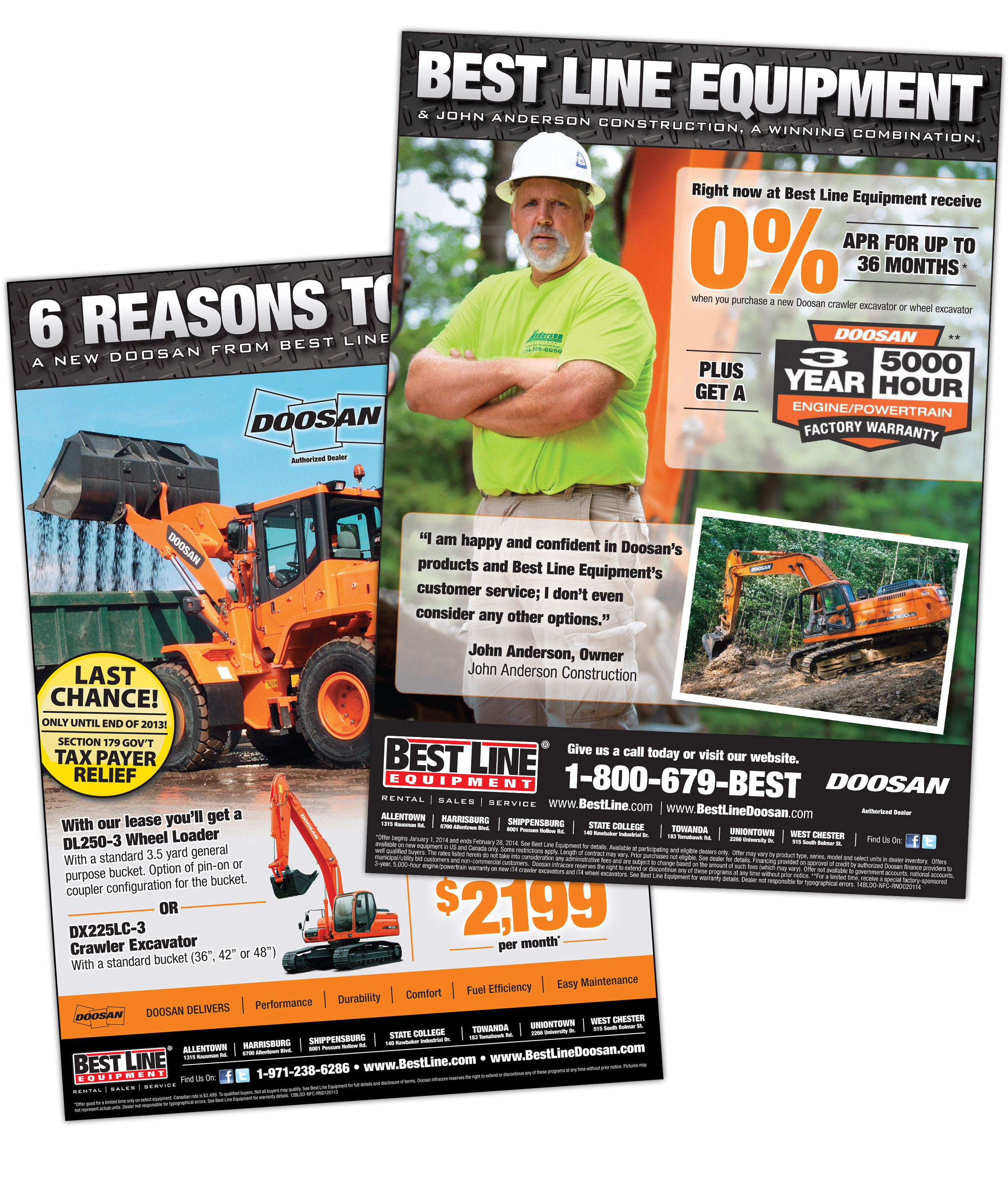 Doosan Testimonial Newspaper Ads