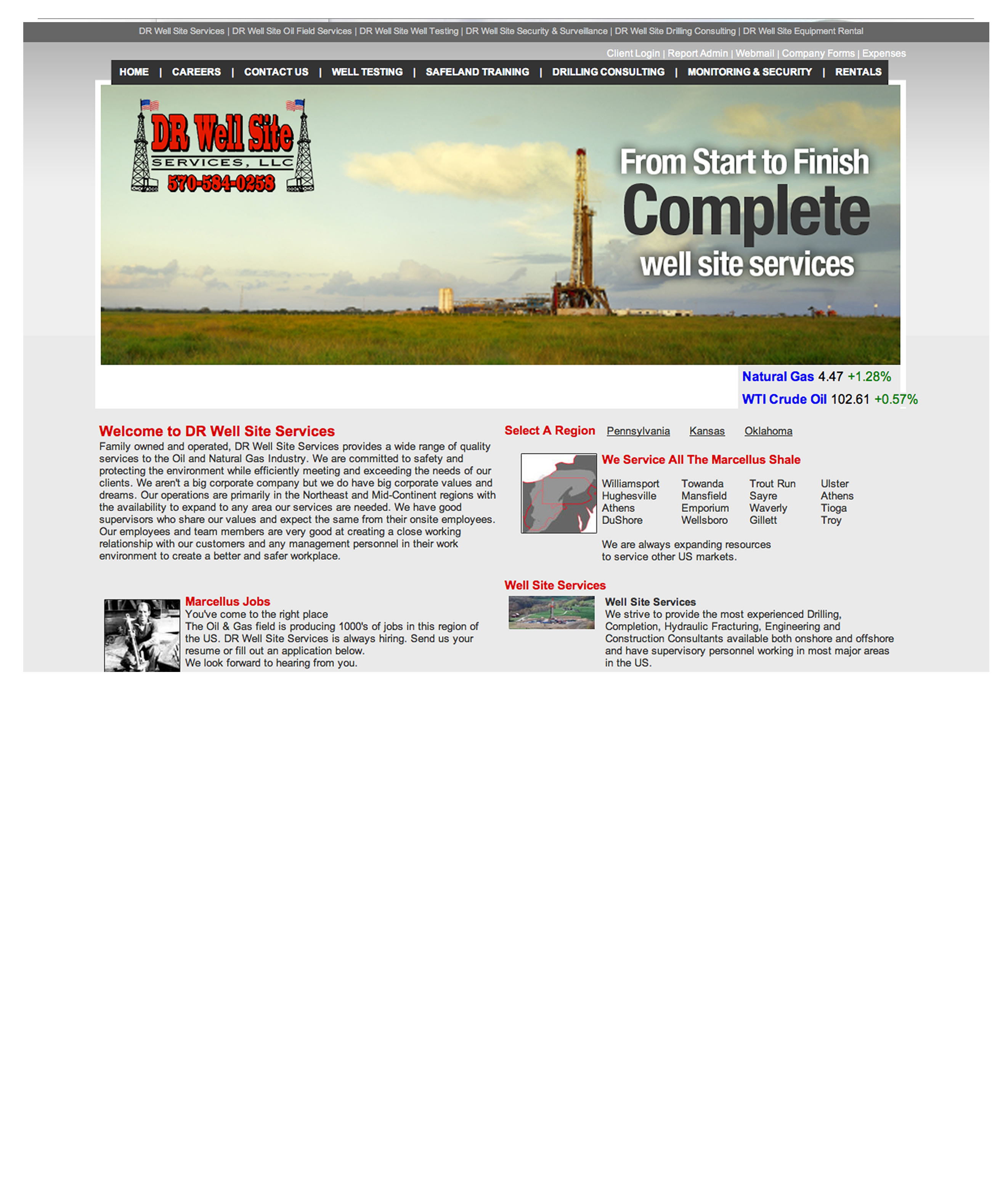 Natural Gas Website