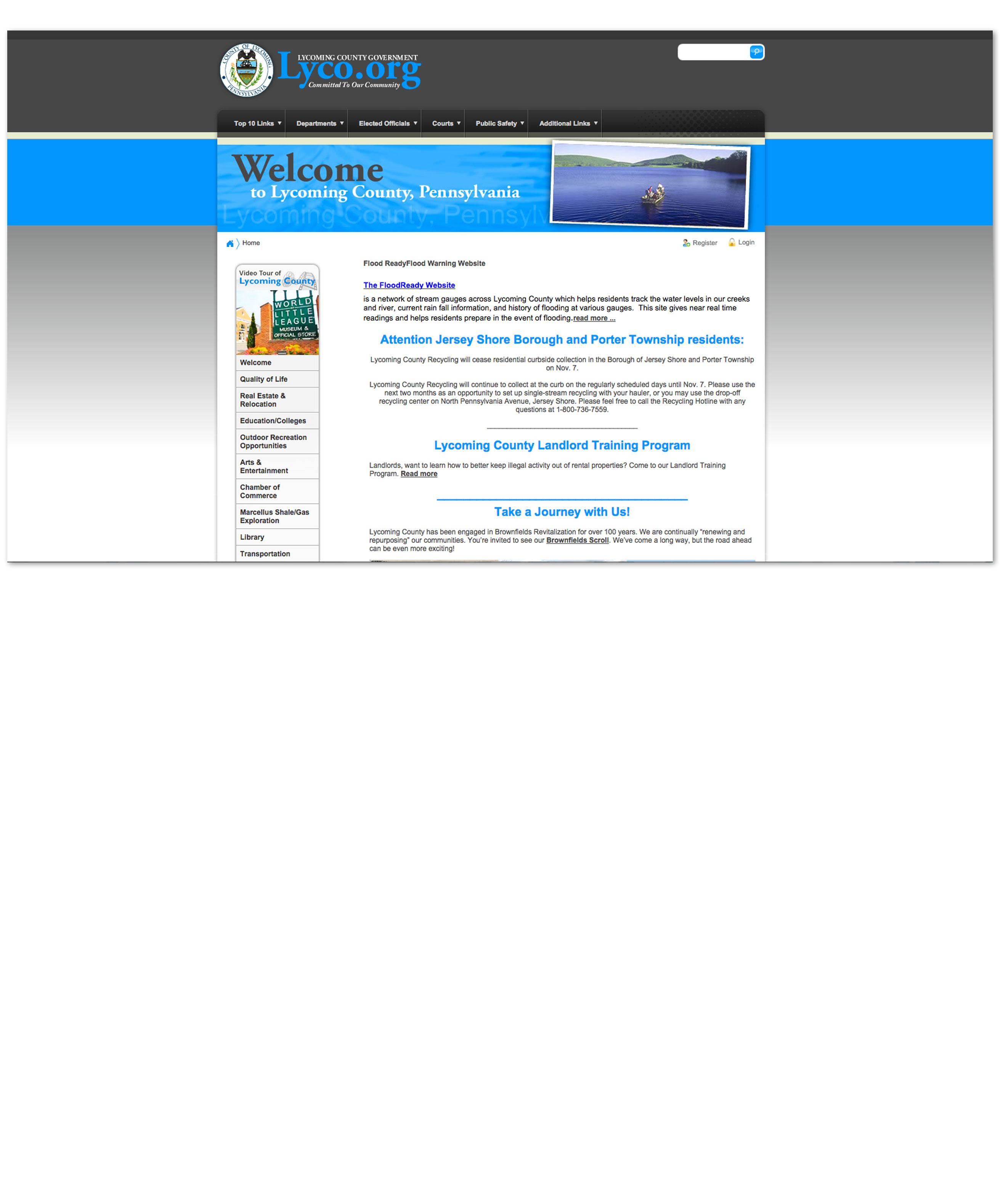 Lycoming County Government Website