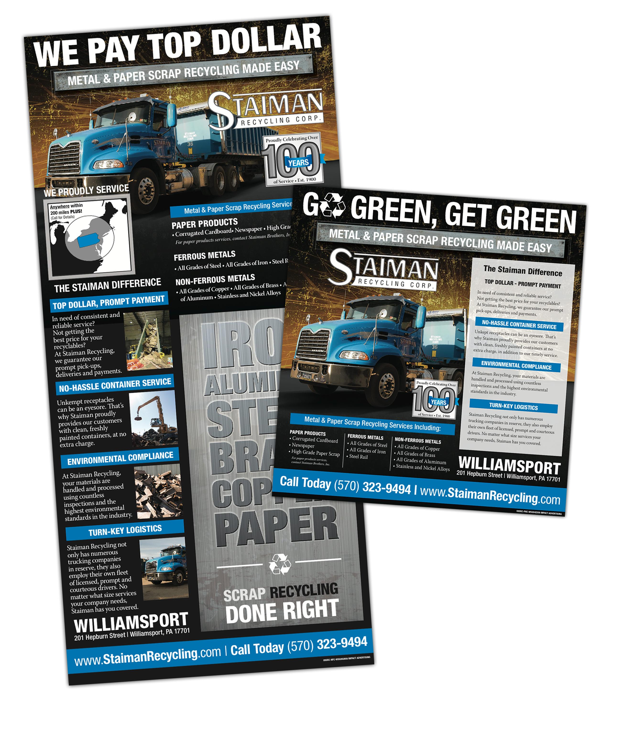 Staimen Recycling Newspaper Williamsport