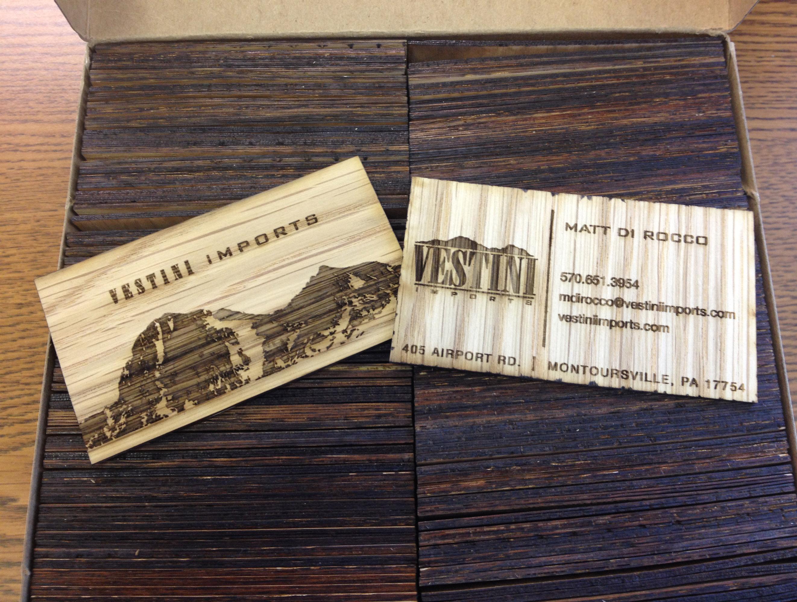 Wooden Business Card Design