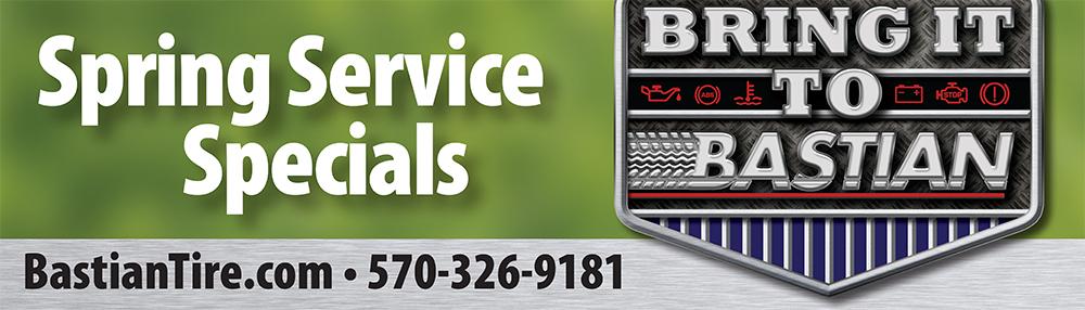 """Bastian Tire & Auto Center """"Spring Care Specials"""" Billboard"""