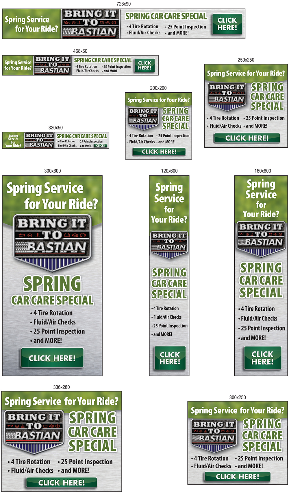 Google Adwords Display Ads for Bastian Tire and Auto Center