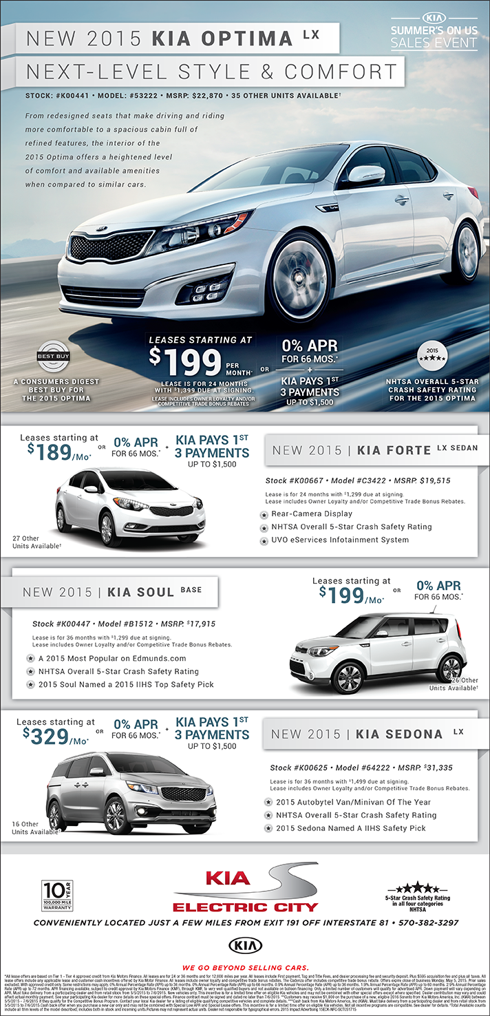 Electric City Kia May 2015 Image Ad