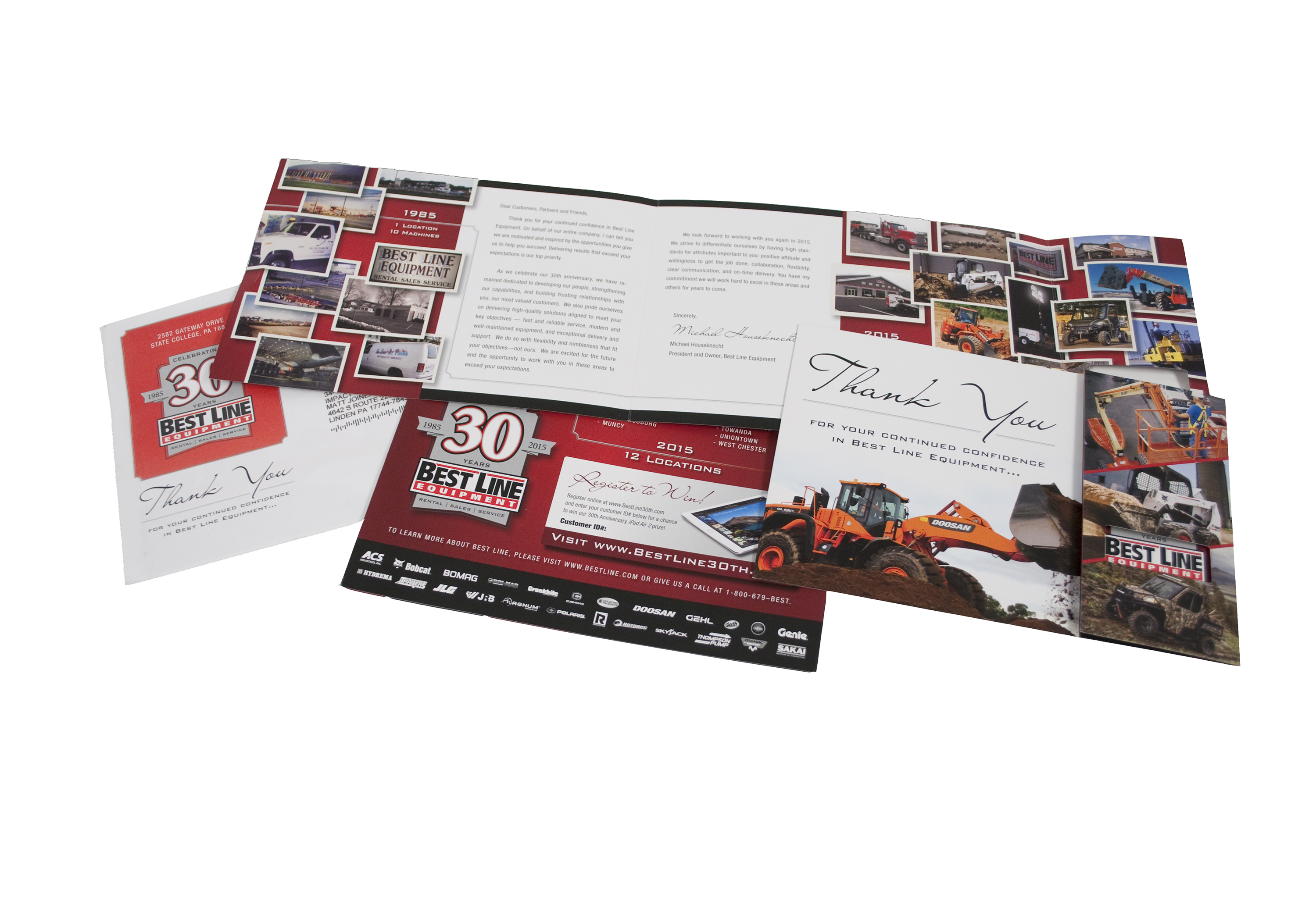 Best Line Equipment 30th Anniversary Direct Mail