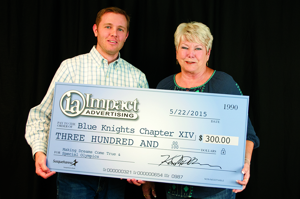 ImpactAdvertising Presents Blue Knights Check