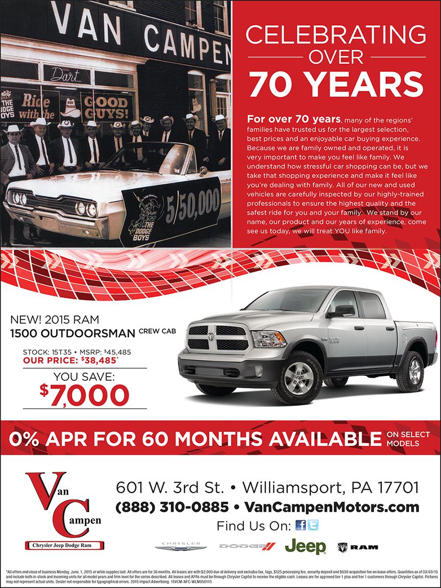 Van Campen Motors Magazine Ad
